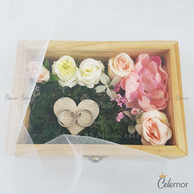 Top View Box - Natural | Wedding Ring Bearer Box Indonesia - Celemor by Celemor - 023