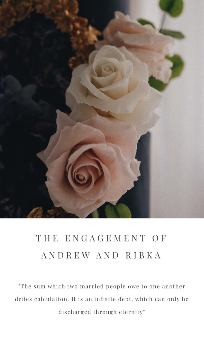 The engagement of Andrew and Ribka by Twenty Two Cakes - 001