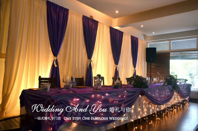 Stage Backdrop Design by Wedding And You - 027