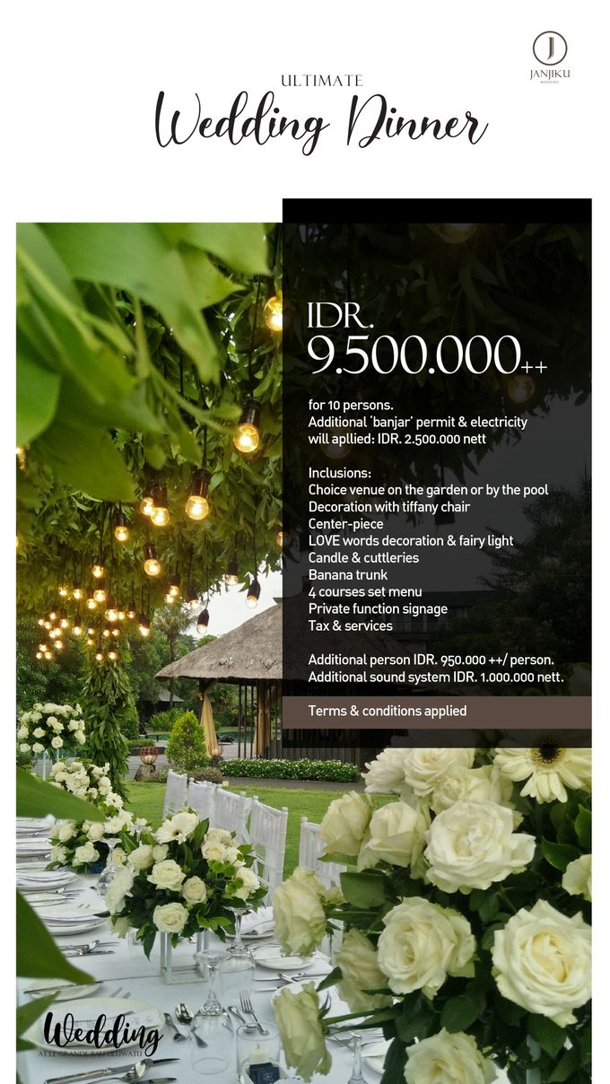 Wedding Dinner by Le Grande Bali Uluwatu - 004