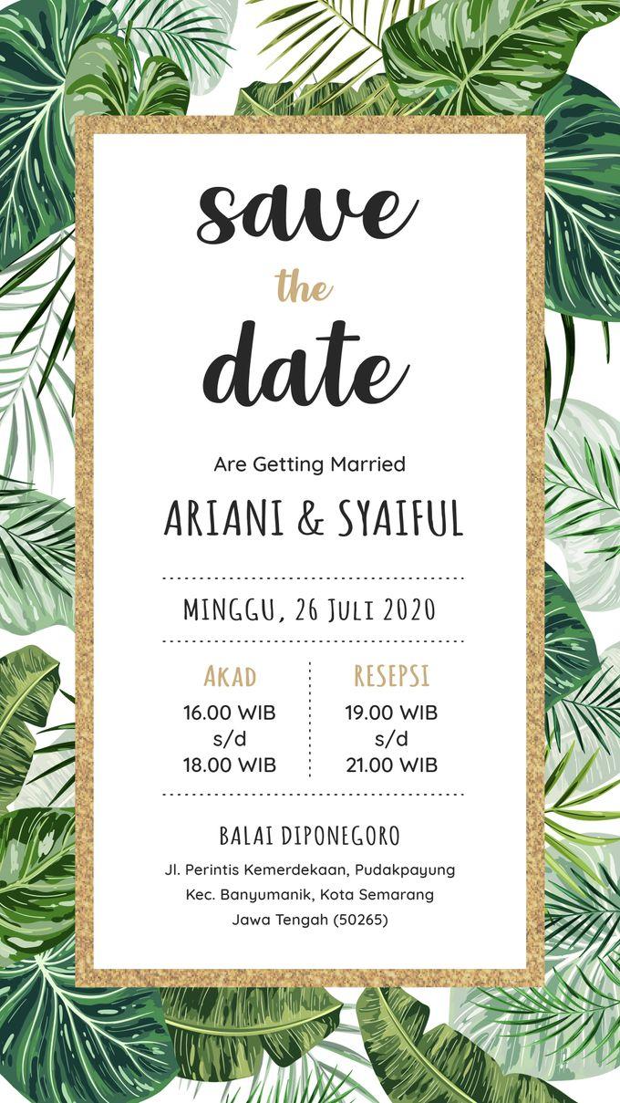 Undangan Grafis Ariani & Syaiful by Sanone Project Digital / Electronic Invitation - 001