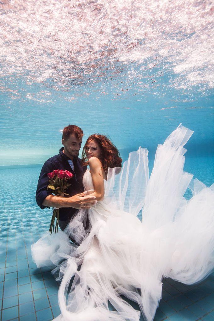 Pre Wedding & Honeymoon Underwater Photography by Drewperspectives - 003
