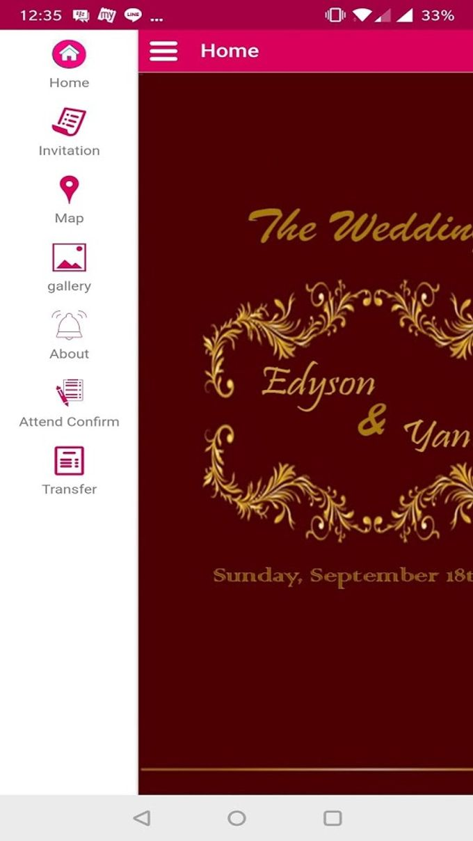 edyson and yanti wedding invitation by simply apps bridestory com