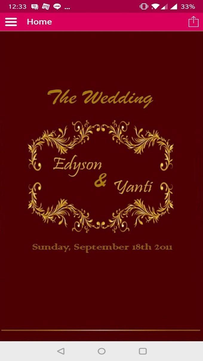 Edyson And Yanti Wedding Invitation by Simply Apps   Bridestory.com