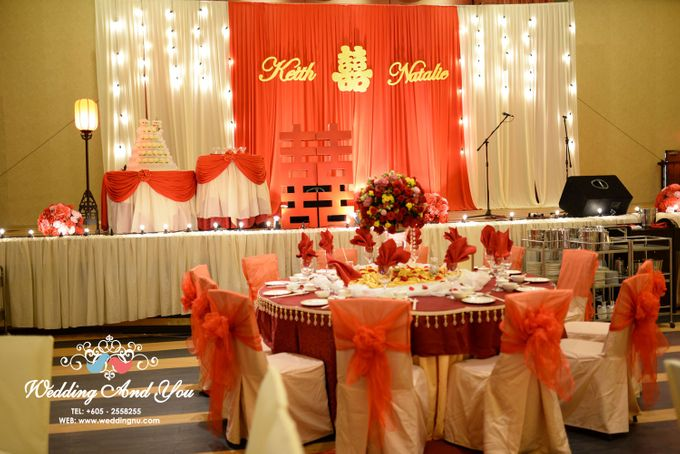 Stage Backdrop Design by Wedding And You - 018