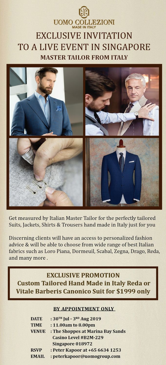Tailored Shirts Singapore