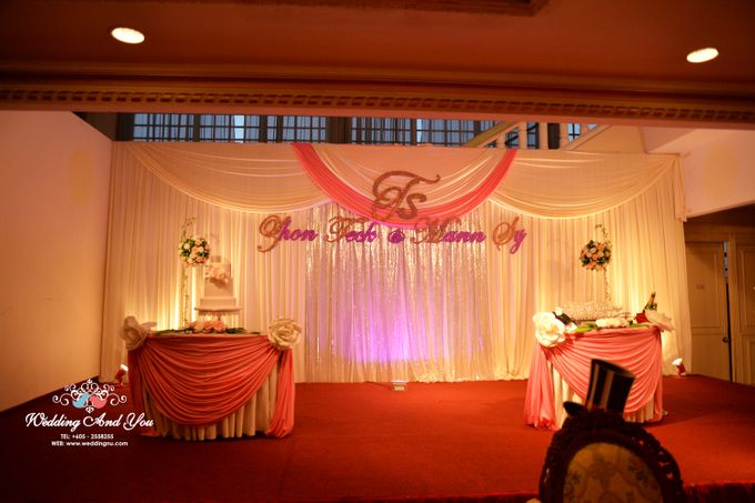 Stage Backdrop Design by Wedding And You - 008