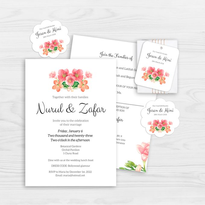 Rose Bouquet Wedding Invitation by Gift Elements - 001