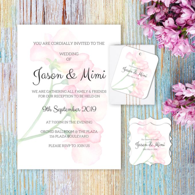 Rose Clutch Wedding Invitation by Gift Elements - 001