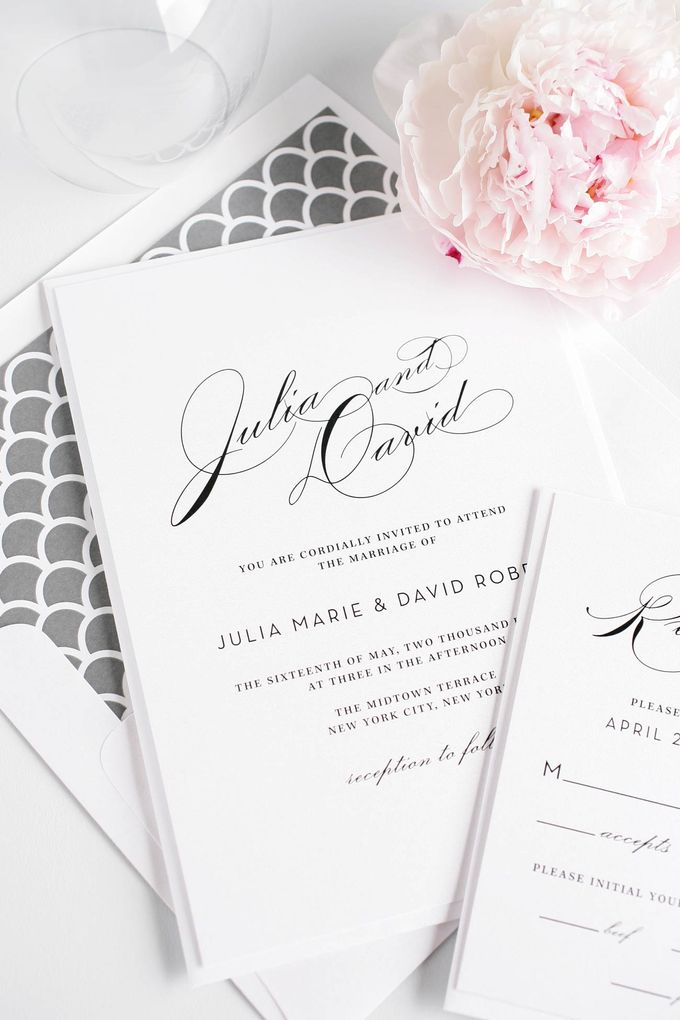 Vintage Glam Wedding Invitations by Shine Wedding Invitations - 003
