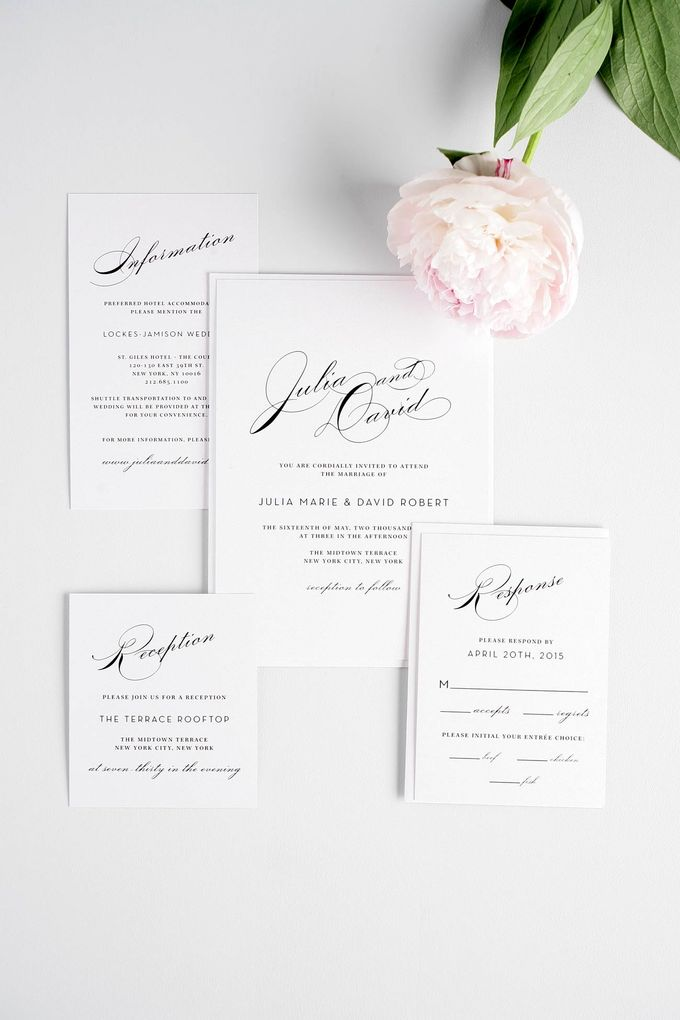 Vintage Glam Wedding Invitations by Shine Wedding Invitations - 005