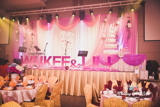 Stage Backdrop Design by Wedding And You - 020