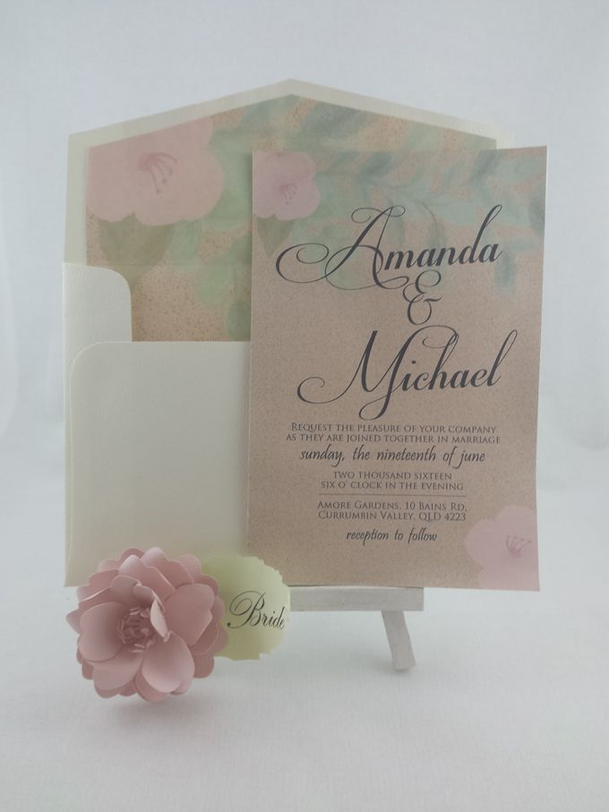 Wedding invitation by Playing With Paper - 001