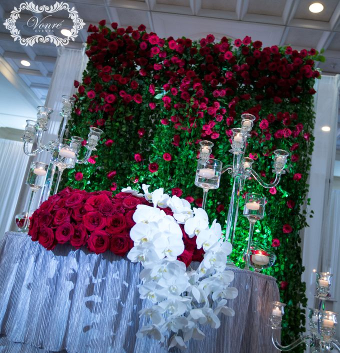 Red Rose Wedding by Vonre Events - 013