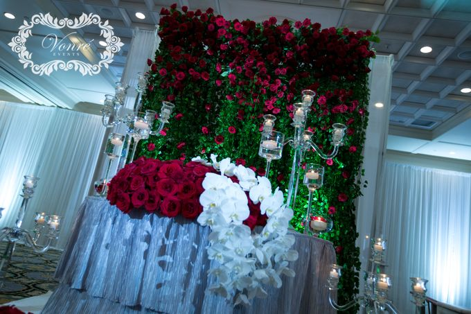 Red Rose Wedding by Vonre Events - 014