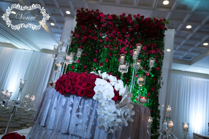 Red Rose Wedding by Vonre Events - 015