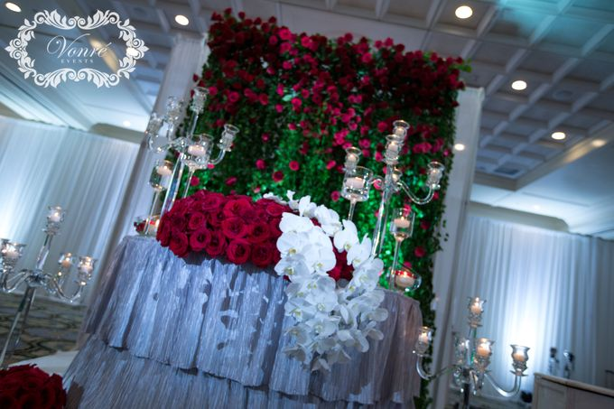 Red Rose Wedding by Vonre Events - 016