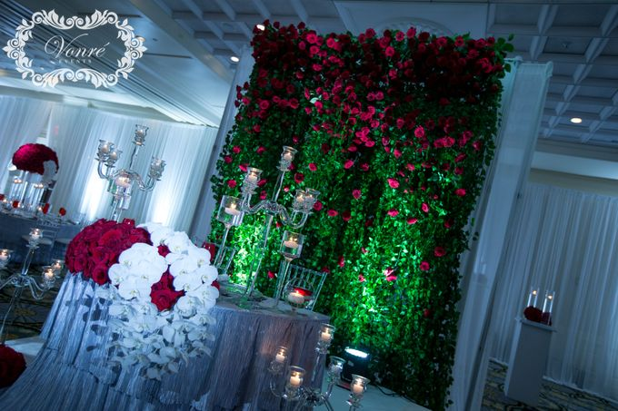 Red Rose Wedding by Vonre Events - 017