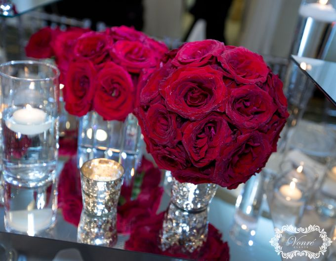 Red Rose Wedding by Vonre Events - 001