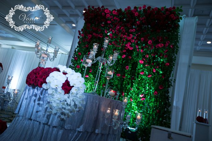 Red Rose Wedding by Vonre Events - 018