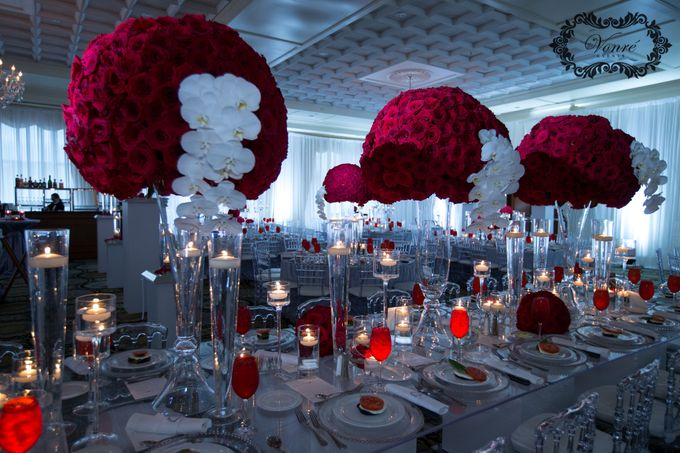 Red Rose Wedding by Vonre Events - 020