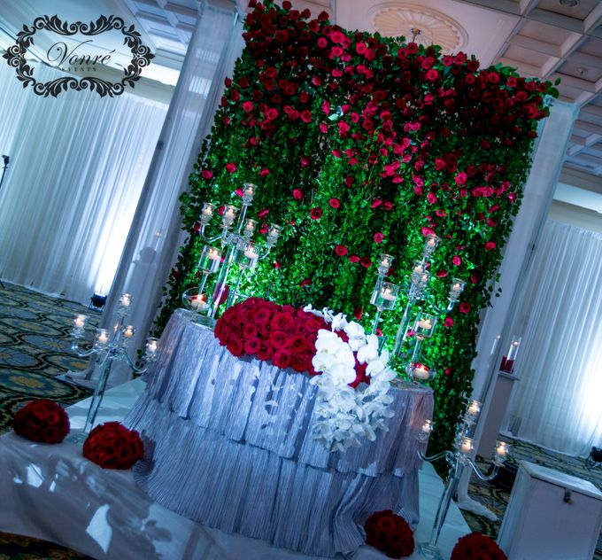 Red Rose Wedding by Vonre Events - 021