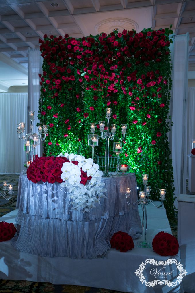 Red Rose Wedding by Vonre Events - 022