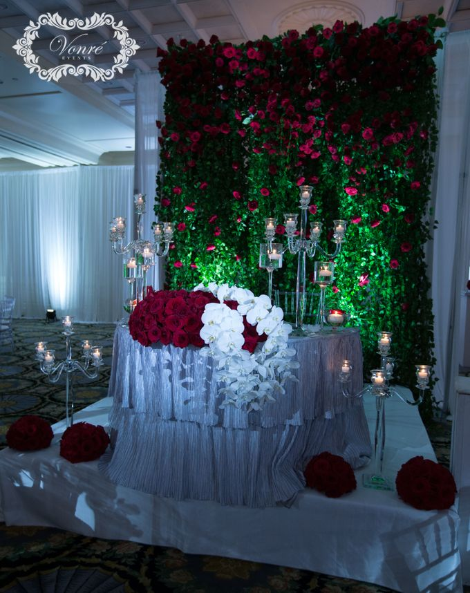 Red Rose Wedding by Vonre Events - 023
