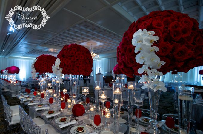 Red Rose Wedding by Vonre Events - 025