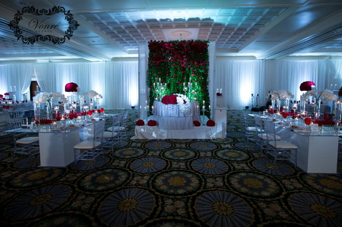 Red Rose Wedding by Vonre Events - 028