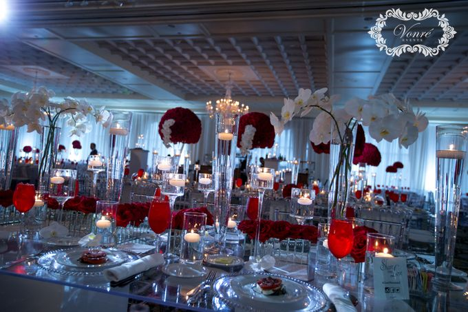 Red Rose Wedding by Vonre Events - 032