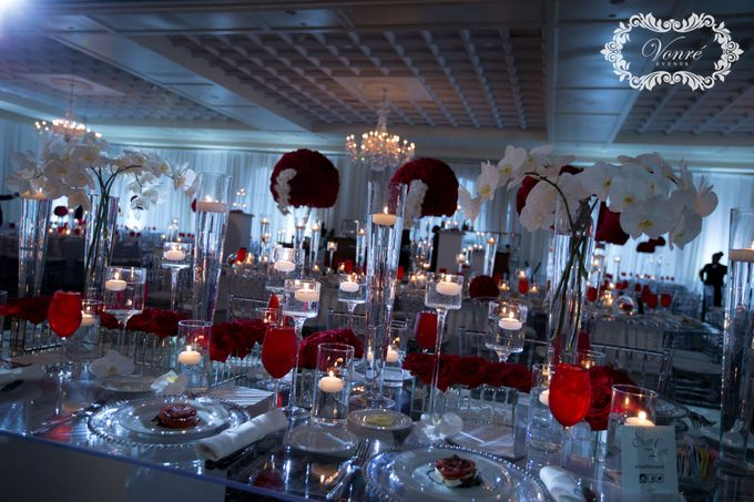Red Rose Wedding by Vonre Events - 033