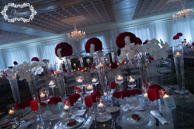 Red Rose Wedding by Vonre Events - 035
