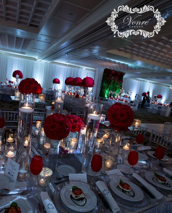 Red Rose Wedding by Vonre Events - 036