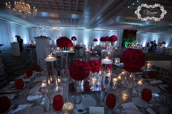 Red Rose Wedding by Vonre Events - 037