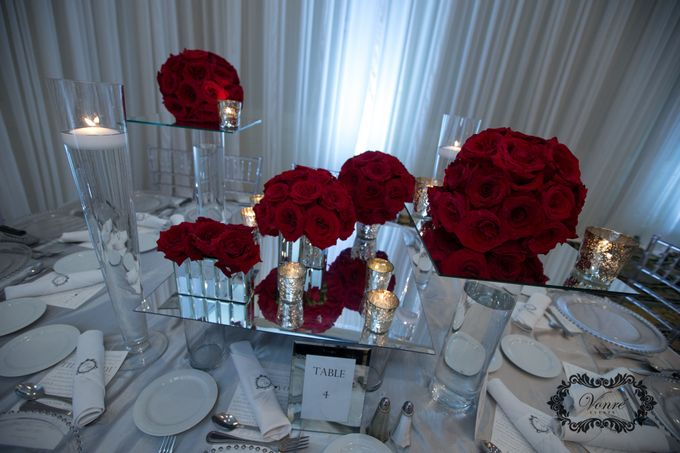 Red Rose Wedding by Vonre Events - 004
