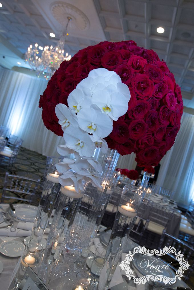 Red Rose Wedding by Vonre Events - 005