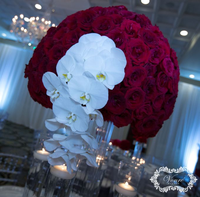 Red Rose Wedding by Vonre Events - 007