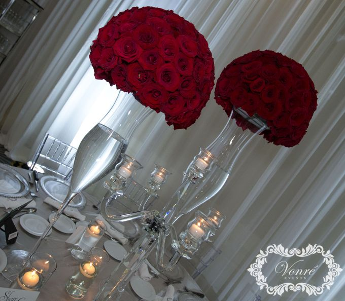 Red Rose Wedding by Vonre Events - 008