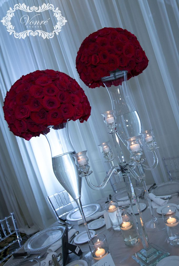 Red Rose Wedding by Vonre Events - 009