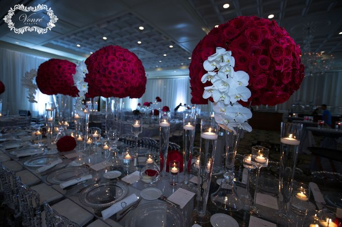 Red Rose Wedding by Vonre Events - 011
