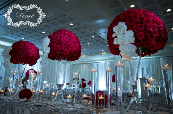 Red Rose Wedding by Vonre Events - 012