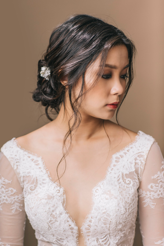 Rustic Makeup and hairdo  by Vow bridal house - 006