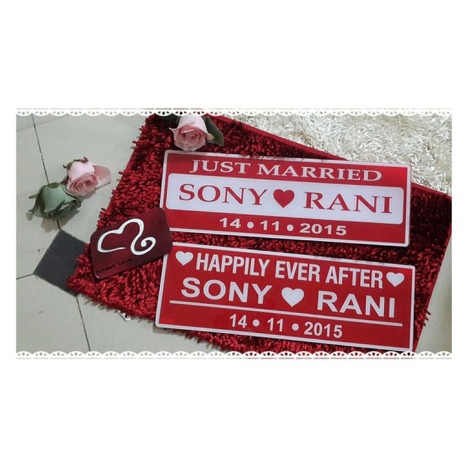 Wedding Car Plate by Sweetlovecollection - 015