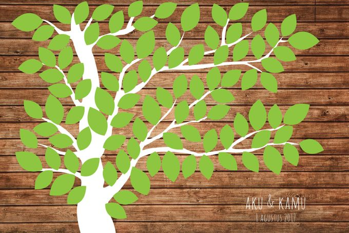Canvas Guestbook Wedding Artwork ( Tree-01) by Bikinseru.aja - 001
