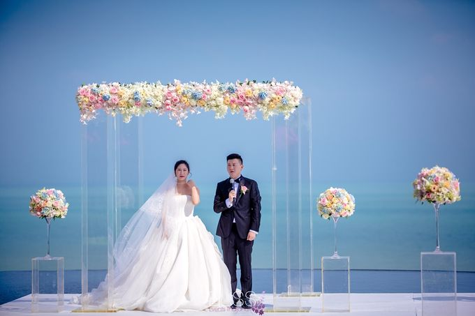 Over water wedding at W retreat koh samui by BLISS Events & Weddings Thailand - 007