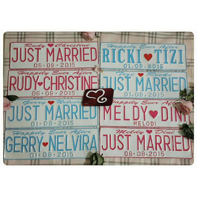 Wedding Car Plate by Sweetlovecollection - 034