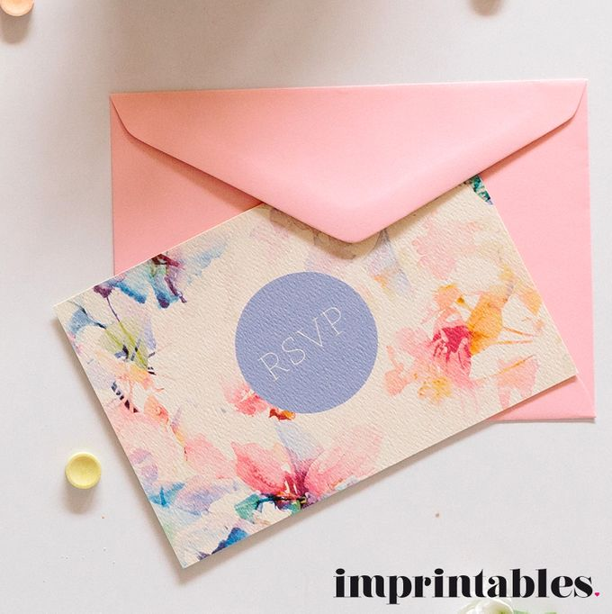 WATERWASHED FLORALS by IMPRINTABLES - Bespoke Paperie - 002