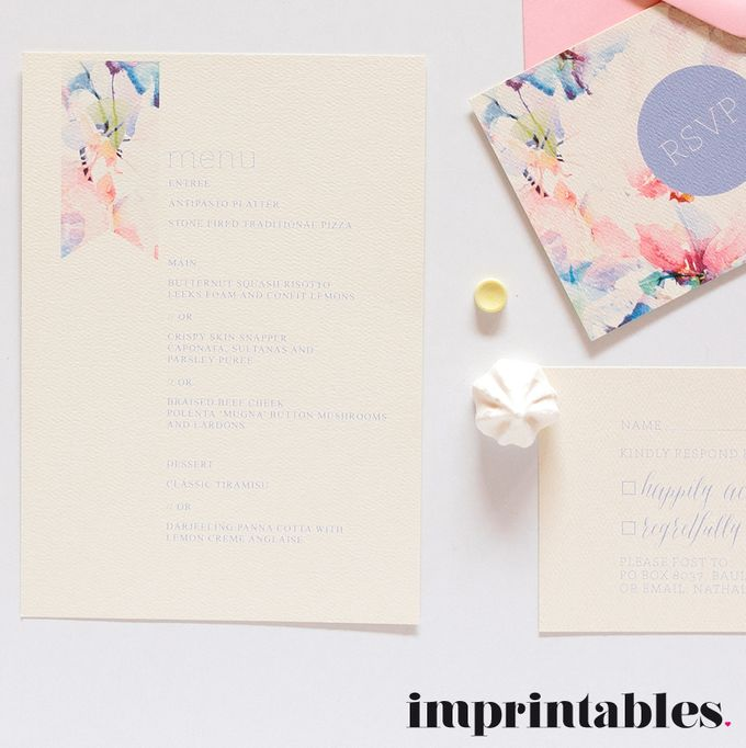 WATERWASHED FLORALS by IMPRINTABLES - Bespoke Paperie - 003