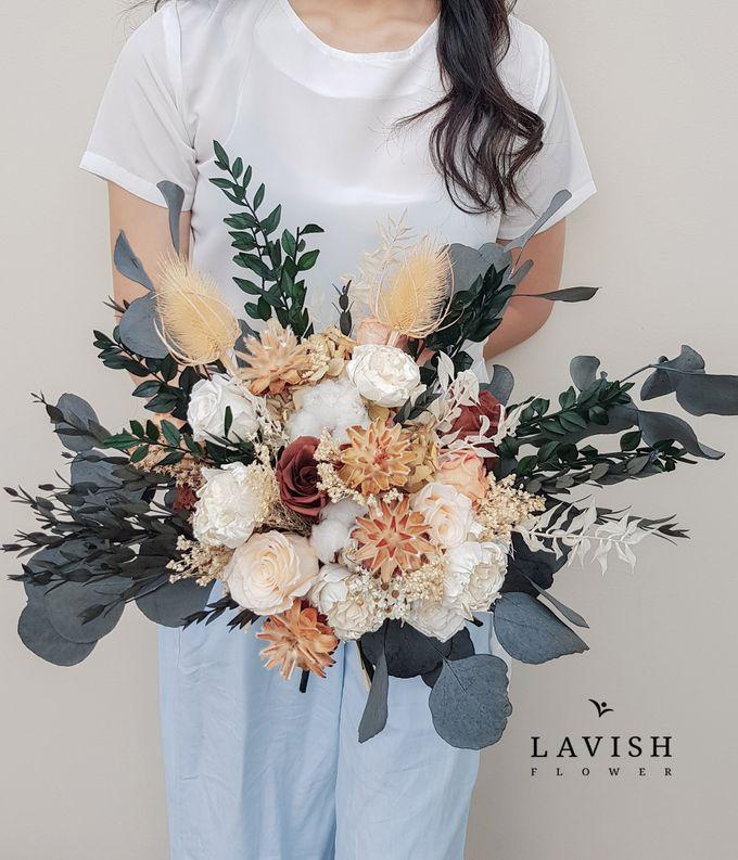 Dried Wedding Bouquet Premium-Luxury Large by Lavish Flower - 004